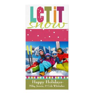 Dejáis le nevar tarjeta de Navidad de la foto Tarjetas Fotográficas Personalizadas