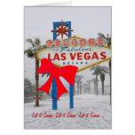 Dejáis le nevar tarjeta de Navidad de Las Vegas