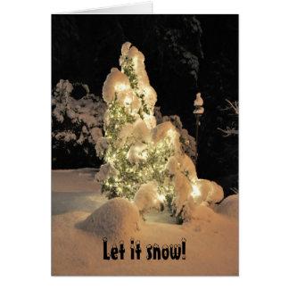 Dejáis le nevar tarjeta del día de fiesta