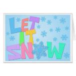 Dejáis le nevar texto en tarjeta del fondo de los