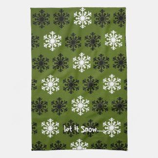 Dejáis le nevar toallas de cocina del invierno