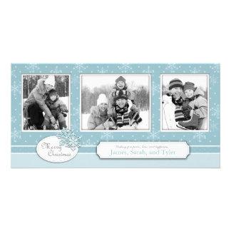 Dejáis le nevar trío de la tarjeta de la foto tarjeta fotografica personalizada