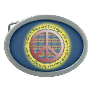 Dejáis le sea hebilla del cinturón de la paz hebillas cinturon ovales