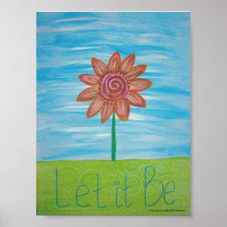 Dejáis le sea pintura original de la flor del Hipp Poster