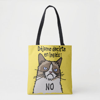 Dejame Dicirte En Ingles All-Over-Print Tote Bag