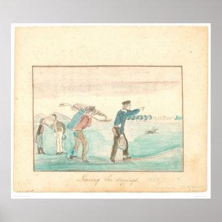 Dejando los Diggings (1601A) Póster