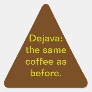 Dejava Pegatina Triangular