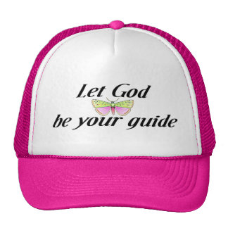 Deje a dios ser su guía gorras de camionero