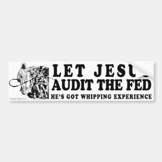 Deje a Jesús revisar el FED Pegatina Para Auto