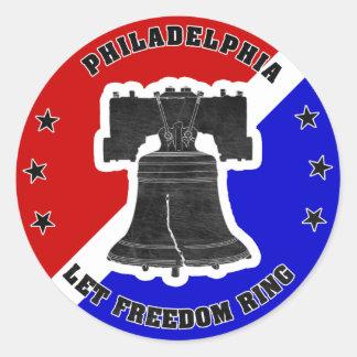 Deje a los pegatinas del anillo de la libertad (20 etiqueta redonda