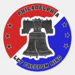 Deje a los pegatinas del anillo de la libertad (6 etiqueta redonda