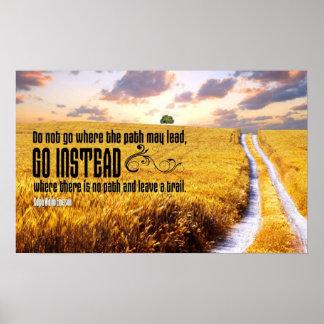 Deje a rastro el poster de motivación