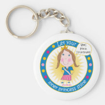 Deje a su princesa interna Shine Keychain Llavero Personalizado