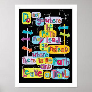 Deje a su propio rastro el poster inspirado del ar