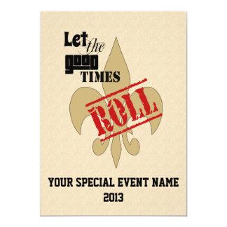 Deje al buen fiesta del acontecimiento especial invitación 12,7 x 17,8 cm