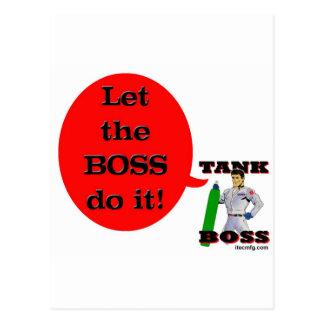 ¡Deje Boss lo hacen! Postal