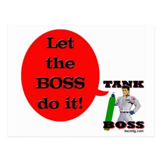 ¡Deje Boss lo hacen! Tarjeta Postal