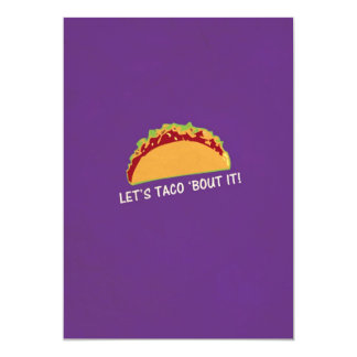 Deje combate del Taco 'él lema divertido del Taco