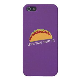Deje combate del Taco 'él lema divertido del Taco iPhone 5 Funda