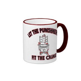 Deje el abeto del castigo la taza de café del crim