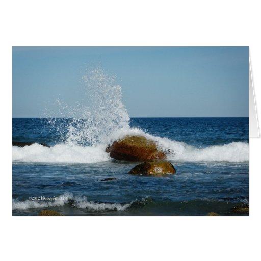 Deje el agua bailar tarjeta de felicitación