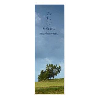 Deje el amor y la fidelidad - proverbios 3 - señal tarjetas de visita mini