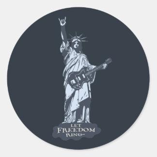 Deje el anillo de la libertad etiquetas redondas