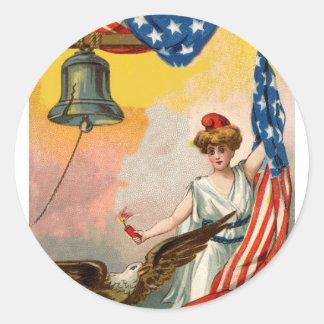 ¡Deje el anillo de la libertad! Pegatina Redonda