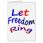 Deje el anillo de la libertad tarjeta