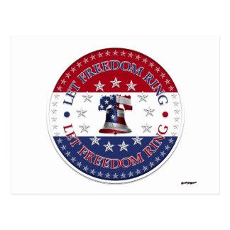 Deje el anillo las estrellas de Liberty Bell 13 y Postal