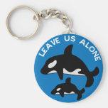 Deje el azul de la orca llavero personalizado