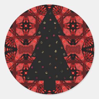 """""""Deje el brillo de las luces de navidad brillante Pegatina Redonda"""