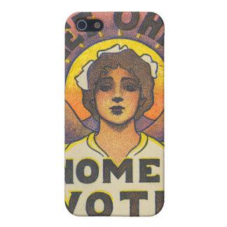 Deje el caso del iPhone del voto de las mujeres de iPhone 5 Carcasas