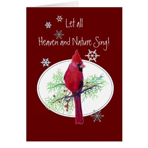 Deje el cielo y la naturaleza cantar el pájaro del tarjeta de felicitación