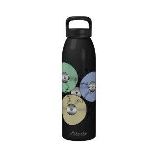 Deje el flujo de la música (de carrete y el disco  botella de agua