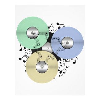 Deje el flujo de la música (de carrete y el disco  tarjetones