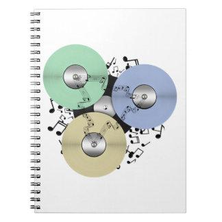Deje el flujo de la música (de carrete y el disco spiral notebooks