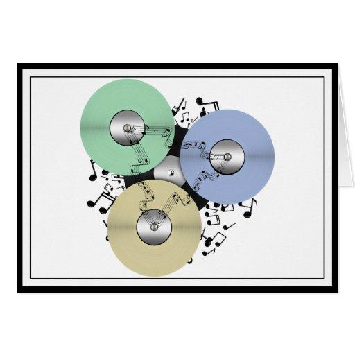 Deje el flujo de la música (de carrete y el disco tarjeta de felicitación