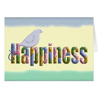 Deje el hallazgo de la felicidad usted tarjeta de felicitación