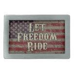 Deje el paseo de la libertad - bandera americana hebilla de cinturon