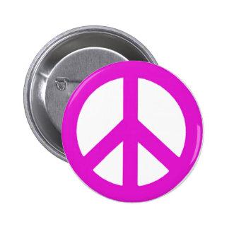 Deje el peace_ del pin redondo 5 cm