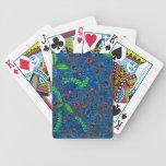Deje el remolino de la naturaleza floral y las barajas de cartas