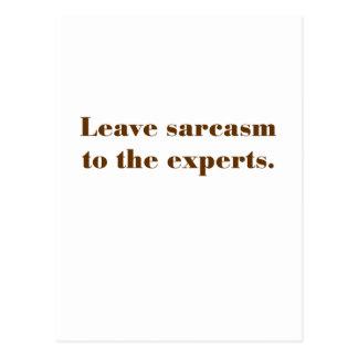 Deje el sarcasmo a los profesionales tarjeta postal