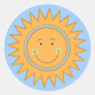 Deje el Sun brillar adentro Pegatina Redonda
