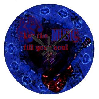 Deje el terraplén de la música su reloj de pared A