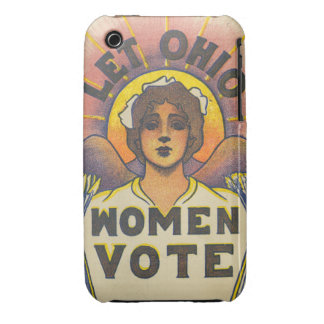 Deje el voto de las mujeres de Ohio Case-Mate iPhone 3 Cárcasas