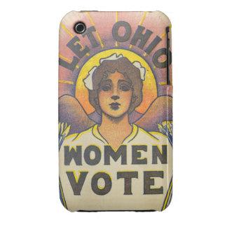 Deje el voto de las mujeres de Ohio Case-Mate iPhone 3 Cárcasa