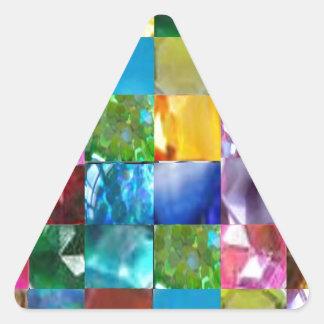 Deje estas GEMAS traer una NUEVAS PROSPERIDAD y Pegatinas De Triangulo
