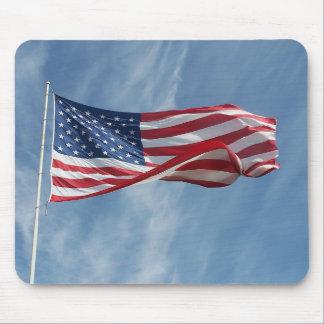 Deje la bandera Mousepad de la onda de la libertad Alfombrilla De Ratones
