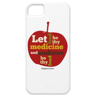 Deje la comida ser thy medicina APPLE iPhone 5 Case-Mate Cobertura